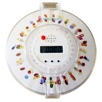 Electronic Medication Reminder Automatic Locked Dispenser Medicine Pills Timed