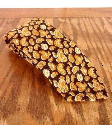 Vtg 60er Jahre Speziell Hand Hergestellt Von Alice 100%wolle Braun Gold Paisley Gut Verkaufen Auf Der Ganzen Welt