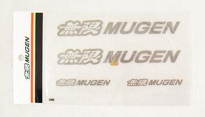 6 Inch 4 pc GENUINE Mugen Power Decal Sticker Gunmetal COLOR Honda CIVIC RSX FIT