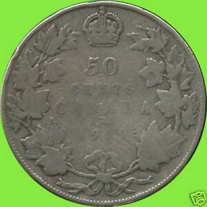 1919-Canada-Silver-50-Cent-Piece-11-66-grams-925-Silver