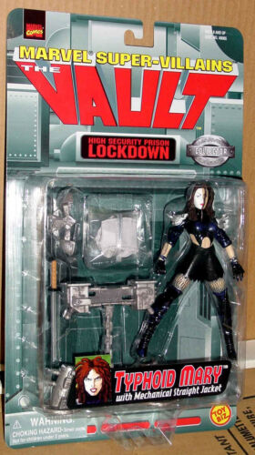 TYPHOID MARY WITH MECHANICAL STRAIGHT JACKET MARVEL SUPER VILLAINS THE VAULT