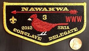 NAWAKWA-LODGE-3-OA-ROBERT-E-LEE-VA-PATCH-2012-SR7A-CONCLAVE-FLAP-GMY-DELEGATE