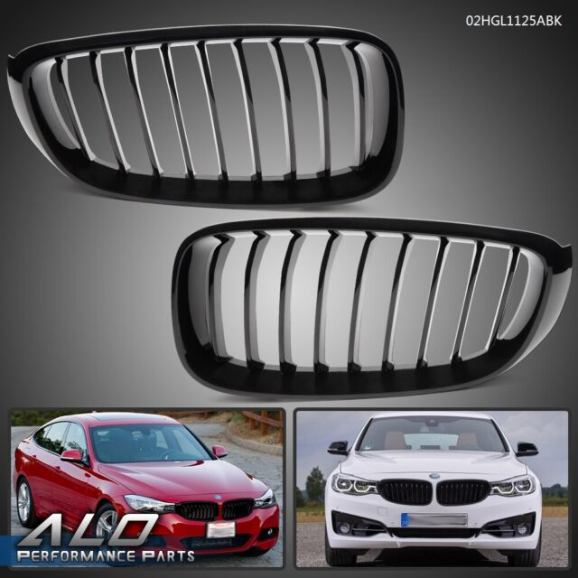 Front Left & Right Grille Black For 2014- 2019 BMW F34