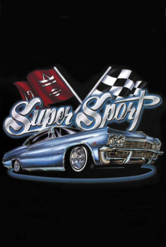 "/""Super Sport/"" Lowrider Street Racing Car Urban City Style Art Poster"
