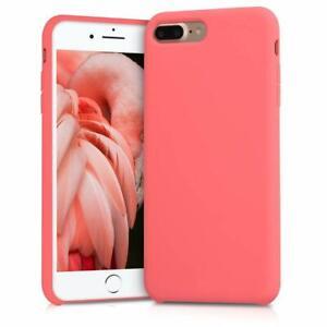 Dettagli su kwmobile Cover Apple iPhone 7/8 Plus Case Custodia Silicone Corallo Fluorescente