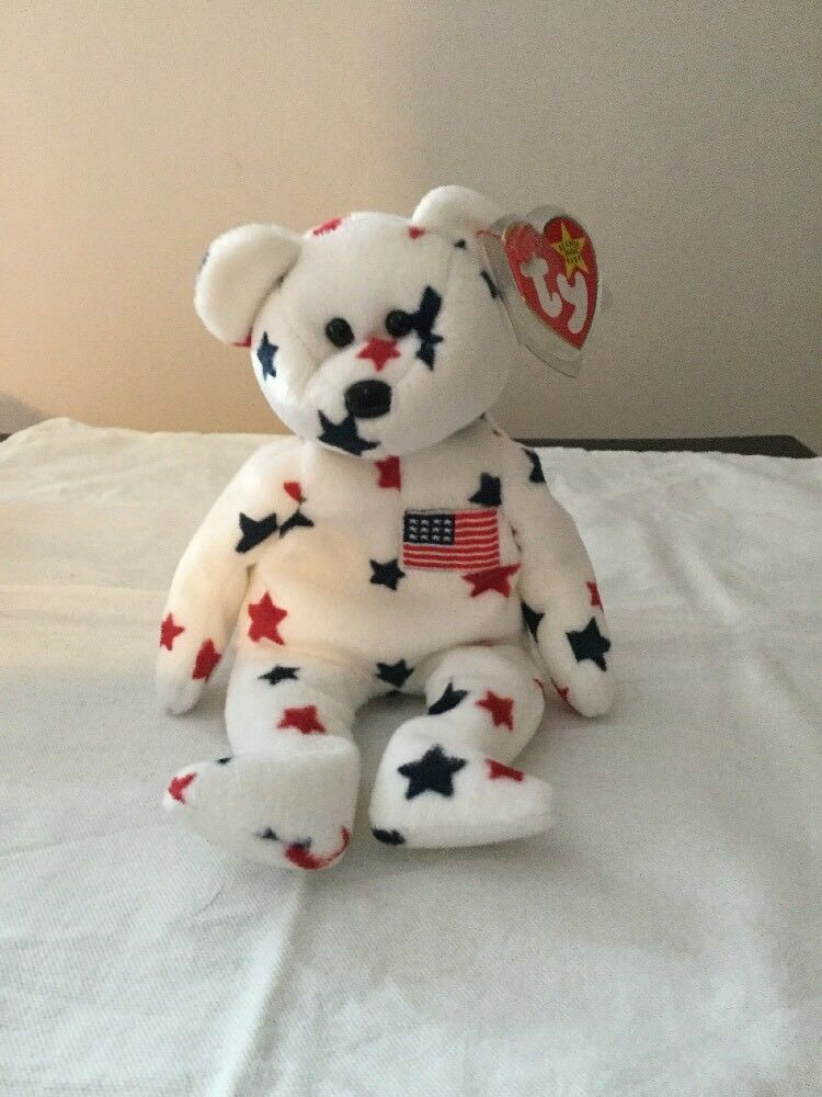 Ty Beanie Baby Glory Bear With Tags