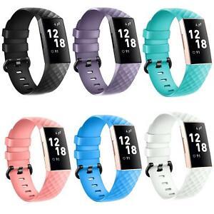 Fitbit-Charge-3-Gr-S-L-Ersatz-Silikon-Armband-Uhren-Sport-Band-Fitness-Tracker