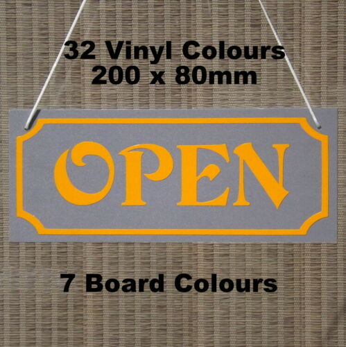 open /& closed double sided shop sign window sign 200 x 60mm approx new