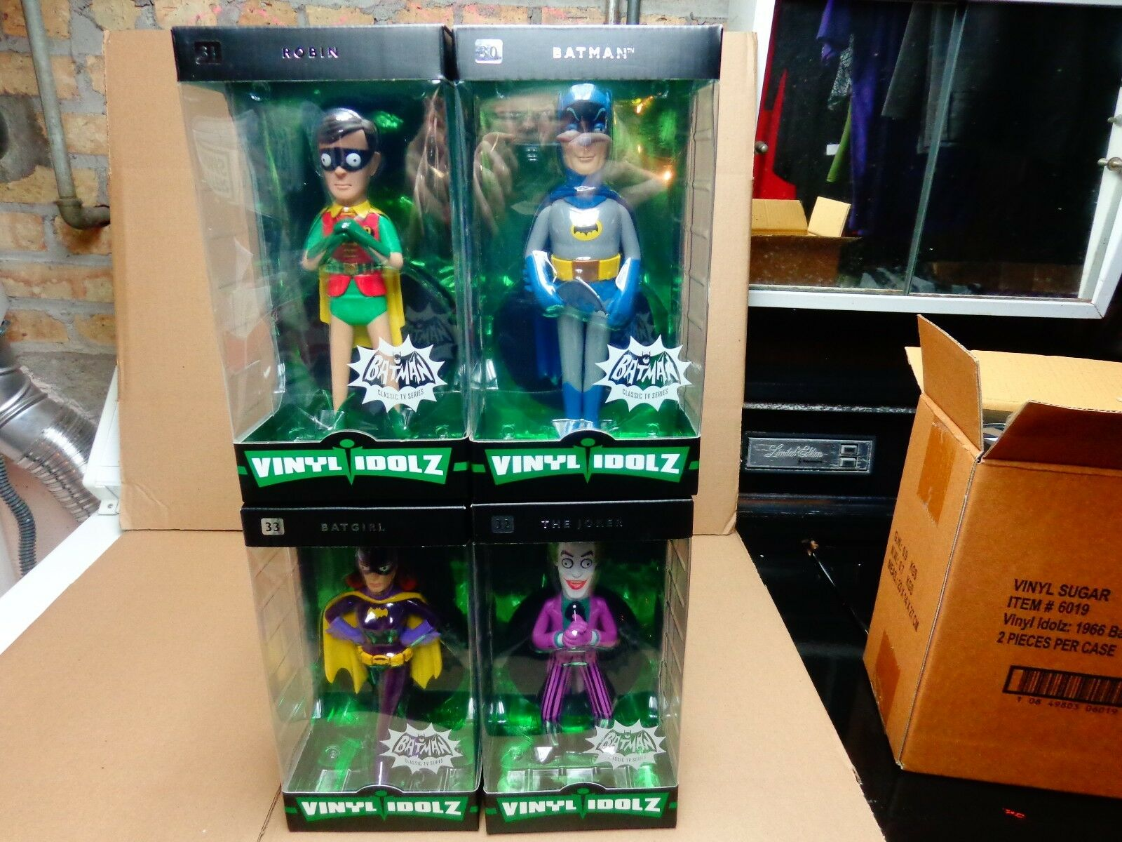 Funko 1966 Batman Classic Tv Serie Vinilo idolz Set Completo De 4 Figuras