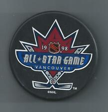 1998 All-Star Game Vancouver 3-Lot  Puck, Comm. Magazine w/Tickets & AS Hat