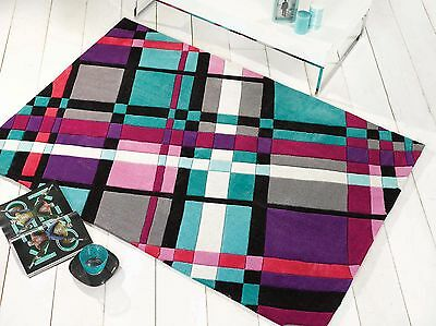 SMALL - EXTRA LARGE THICK FUNKY SOFT VIBRANT MODERN COLOURFUL RUGS
