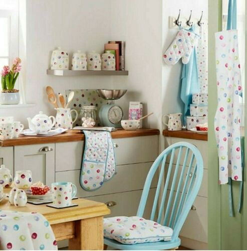 3er Set Geschirrtücher Küchentücher Spotty Dotty gepunktet Baumwolle Cooksmart