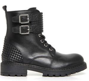 NERO GIARDINI A732760F TEEN scarpe donna tronchetti stivaletti stivali anfibi