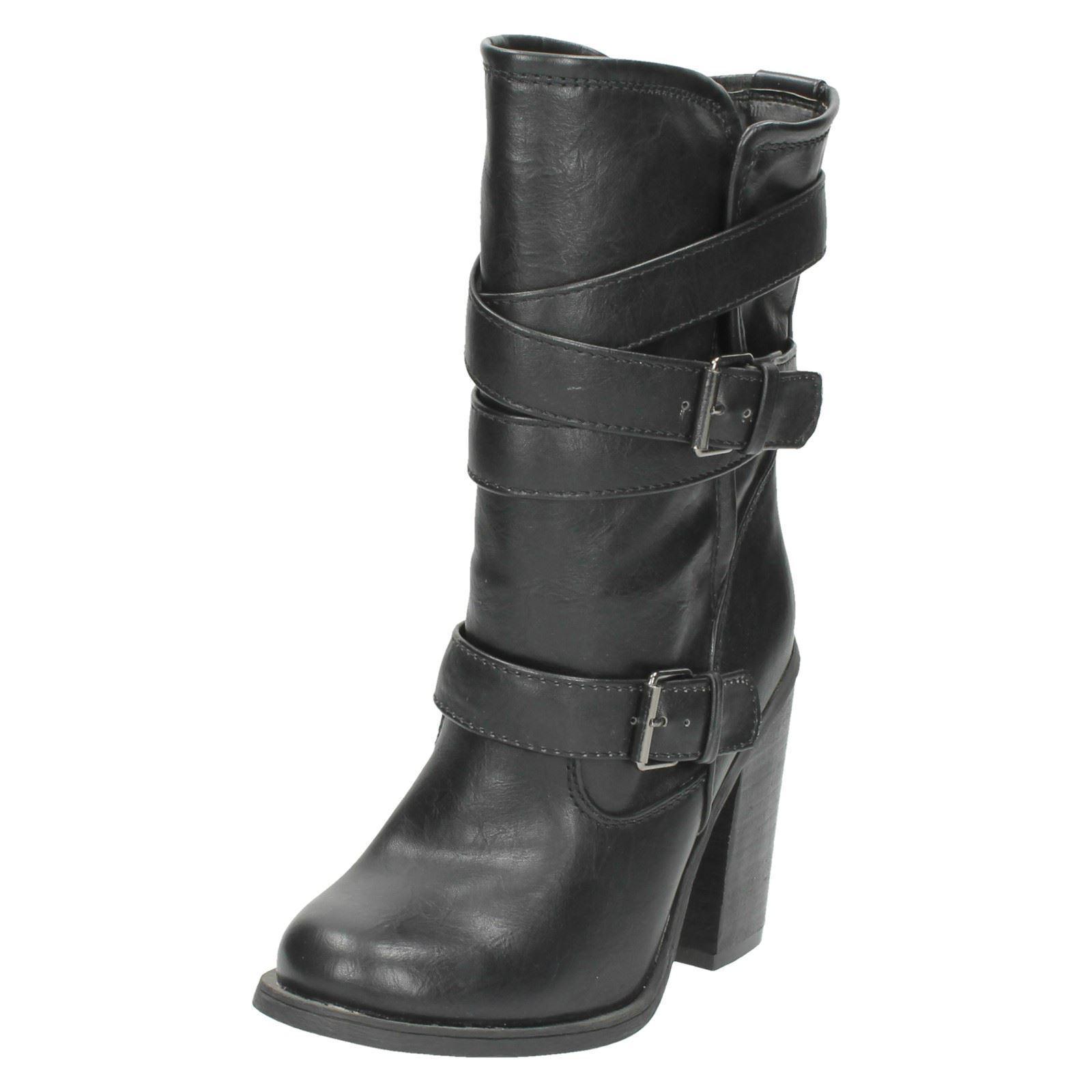 Spot On Ladies Calf Boot F5R929 Black (R22D)