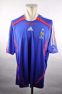 Frankreich-Trikot-Gr-XL-Adidas-Jersey-2006-WM-EM-Home-blau-FFF-France-maillot