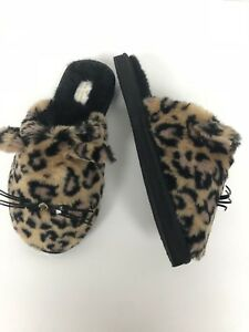 74d7a546602b Image is loading Kate-Spade-Belindy-Cat-Slippers-Leopard-Print-Size-