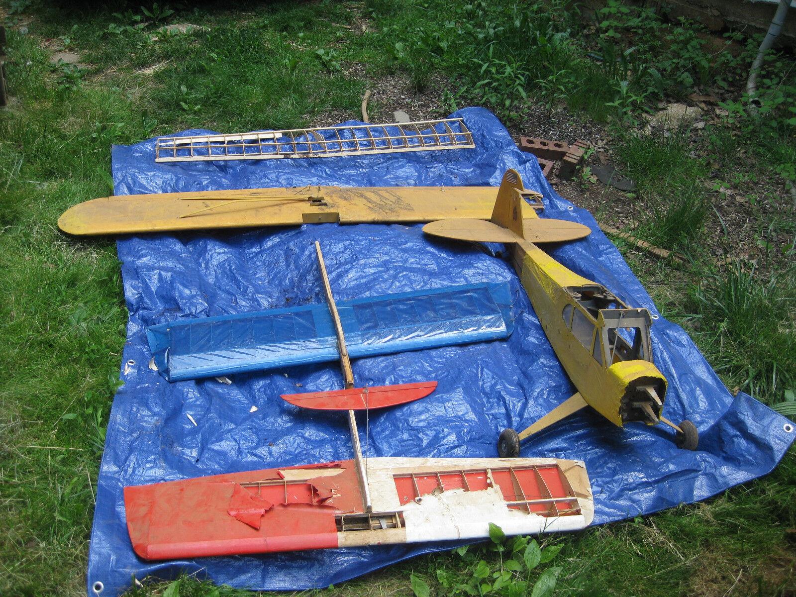 Piper cub flugzeug und diverse kabel flugzeuge verwendet einige teile fehlen