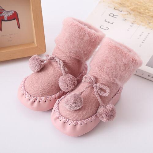Toddler Baby Boy Girl Anti-Slip Boot Socks Cartoon Warm Socks Shoes Slipper CW