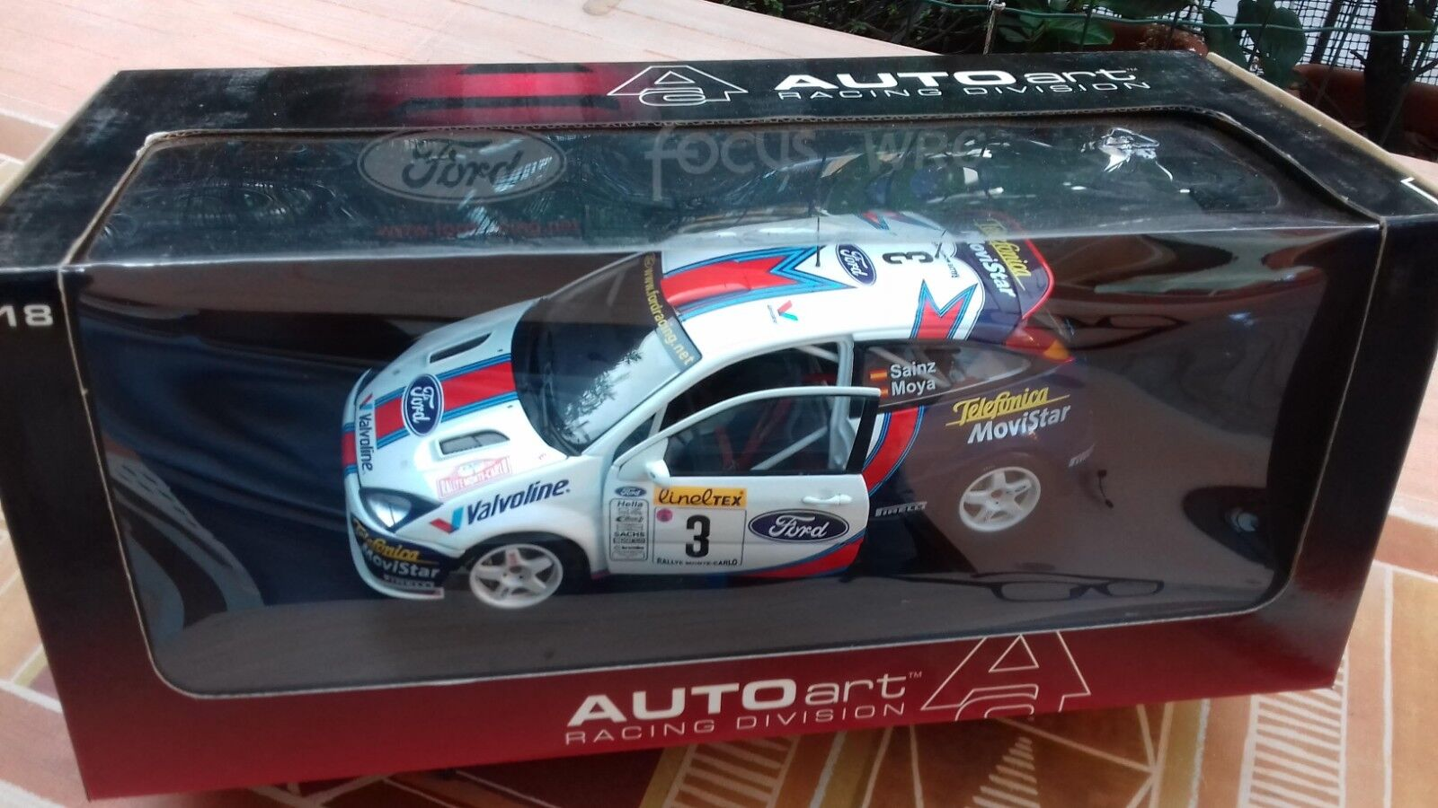 Autoart 1/18 FORD FOCUS WRC 2001 Rally Monte Carlo