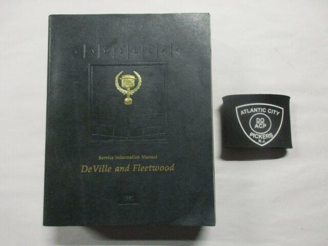 1991 Cadillac Deville Fleetwood Service Shop Repair