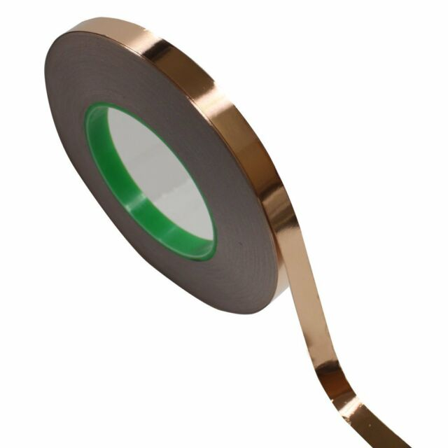 """1/2"""" x 55 yds(12mmx50m) Copper Foil Tape /EMI Conductive Adhesive/ Ship from USA"""