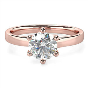 Jewelry & Watches 0.40 Ct Real Certified Diamond Engagement Rings 14k Solid Rose Gold Size N M J K Fine Rings
