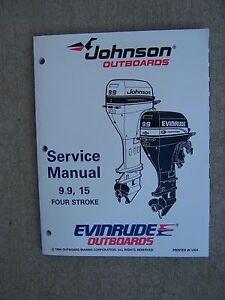 1995 johnson evinrude outboard motor 9 9 15 hp four stroke for How to service johnson outboard motor