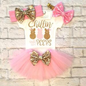 Newborn-Baby-Girls-Romper-Tops-Jumpsuit-Tutu-Skirts-Headband-Outfits-Clothes-Set