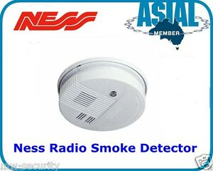 ness alarm system radio wireless smoke detector 106 040 ebay. Black Bedroom Furniture Sets. Home Design Ideas