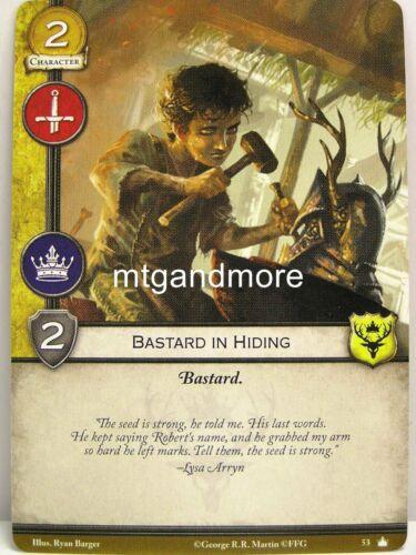 1x Bastard in hiding #053 Base Set-Second Editio A Game of Thrones 2.0 LCG