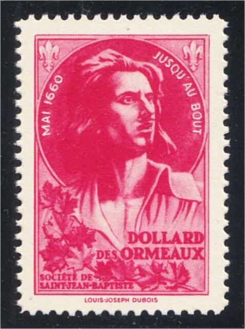 Societe Saint Jean Baptiste 1944 Dollard des Ormeaux Quebec Canada SSJB MNH