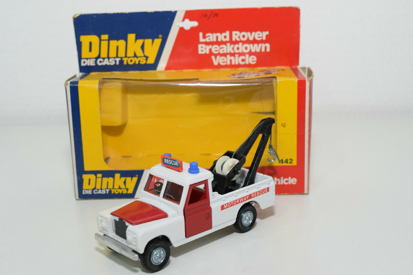 DINKY TOYS 442 LAND ROVER BREAKDOWN VEHICLE CAR MOTORWAY RESCUE VN MINT BOXED