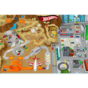 Hot-Wheels-Jumbo-Mega-Mat-and-amp-Vehicles-Kids-Boys-Playmat-Toys