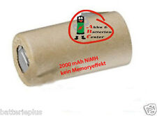 Werkzeug Akku Sub-C NIMH 2000mAh 1.2V Pappmantel Hochstrom- fest ohne Lötfahne