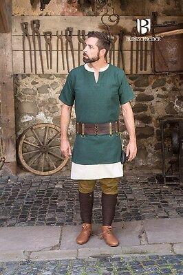 Mittelalter Tunika kurzarm Wikinger - Grün