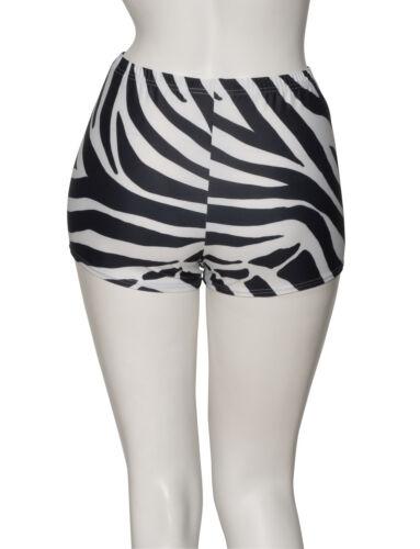 KHPP-5 Girls Ladies Tiger Animal Print Dance Hot Pants Shorts Katz Dancewear