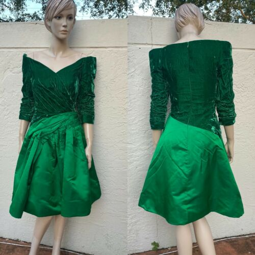 ARNOLD SCAASI BOUTIQUE VINTAGE 80's OFF THE SHOUL… - image 1