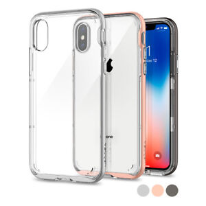 new styles 9b029 07594 Details about For Apple iPhone X Spigen® [Neo Hybrid Crystal] Shockproof  Case TPU Bumper Cover