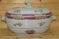 """Spode Lord Calvert Y5351 Oval Soup Tureen With Lid, 11 1/8"""" x 8 5/8"""" x 5"""""""