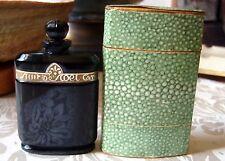 "Vintage Caron Nuit de Noel Empty Perfume Bottle 3"" Baccarat Style w/Box"