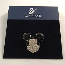 Signed Swan Swarovski DISNEY Mickey Mouse Brooch Pin