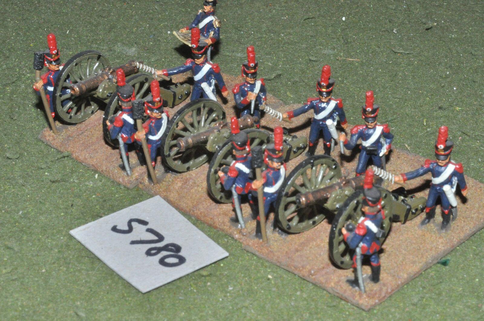 ofreciendo 100% 25mm napoleónicas francés-caballo armas 3 pistolas Crew Crew Crew de metal pintado-arte (5780)  tomar hasta un 70% de descuento