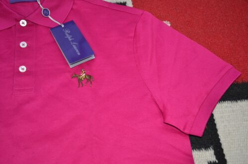 Ralph Lauren Purple Label Made in Italy 100/% Cotton Pony Logo Mesh Polo Shirt