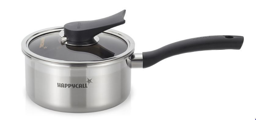 Happycall Full Casting Triple Structure 16cm One-Hand Stainless steel pot
