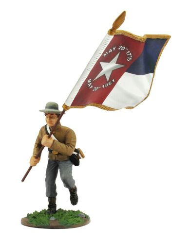 ACW18602 History Works Toy Soldier Confederate Color Bearer North Carolina