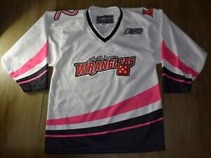 los angeles 00868 8fe8f Details about WOMEN'S LAS VEGAS WRANGLERS AUTHENTIC BREAST CANCER JERSEY  SIZE S GOLDEN KNIGHTS