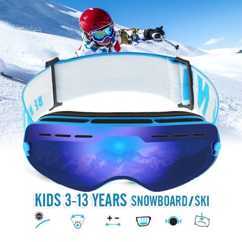 Frameless Snowboard Snowmobile Professional Ski Goggles Anti Fog Windproof