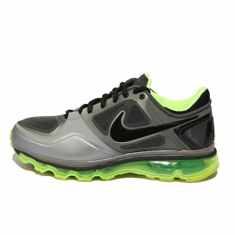 2011 Nike Air Trainer 1.3 Max 360 Sz 9 Stealth Cool gris Neon Volt OG 454174-017
