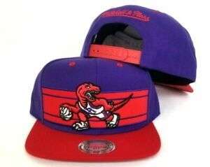 buy online ad606 7cb26 Image is loading Mitchell-amp-Ness-Toronto-Raptors-Red-Purple-Adjustable-