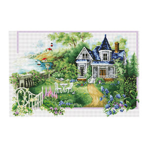 Stamped-amp-Counted-Cross-Stitch-Kit-Embroidery-Crafts-Needlecraft-Seasons